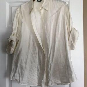 Linen Short/Long Sleeve Blouse